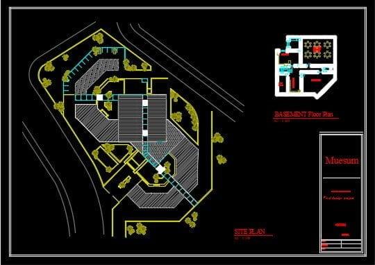 سایت پلان موزه پروژه طرح 3