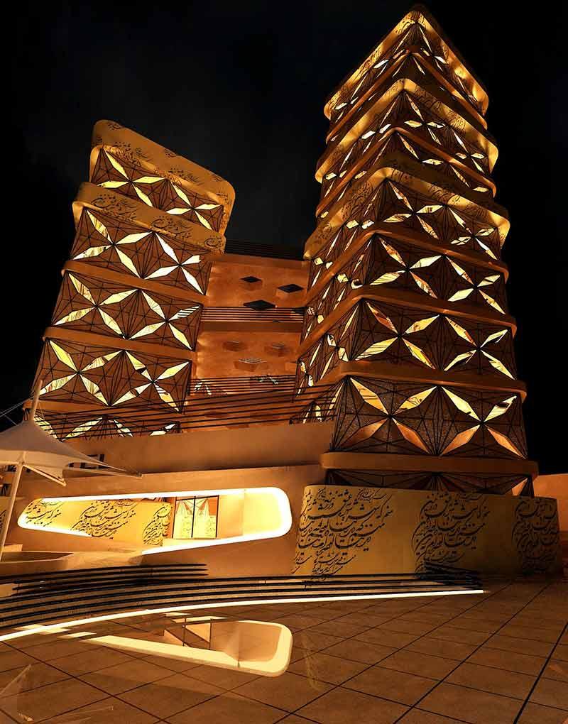 سه بعدی پروژه هتل 5 ستاره