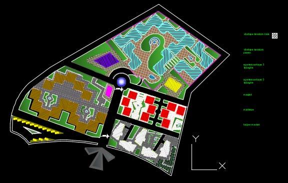 نقشه اتوکد مجتمع مسکونی