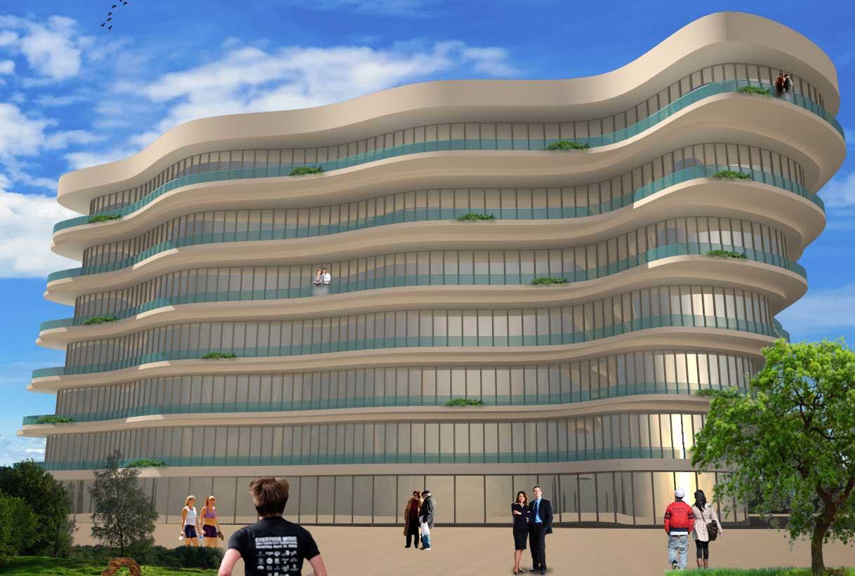 نقشه معماری هتل
