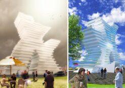 پروژه و پایان نامه هتل 5 ستاره با طراحی معماری بسیار عالی و زیبا