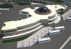 پروژه معماری پایانه مسافربری به همراه شیت های معماری
