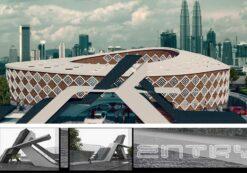 پروژه معماری سفارت خانه – قابل ارائه بعنوان پایان نامه طراحی سفارتخانه