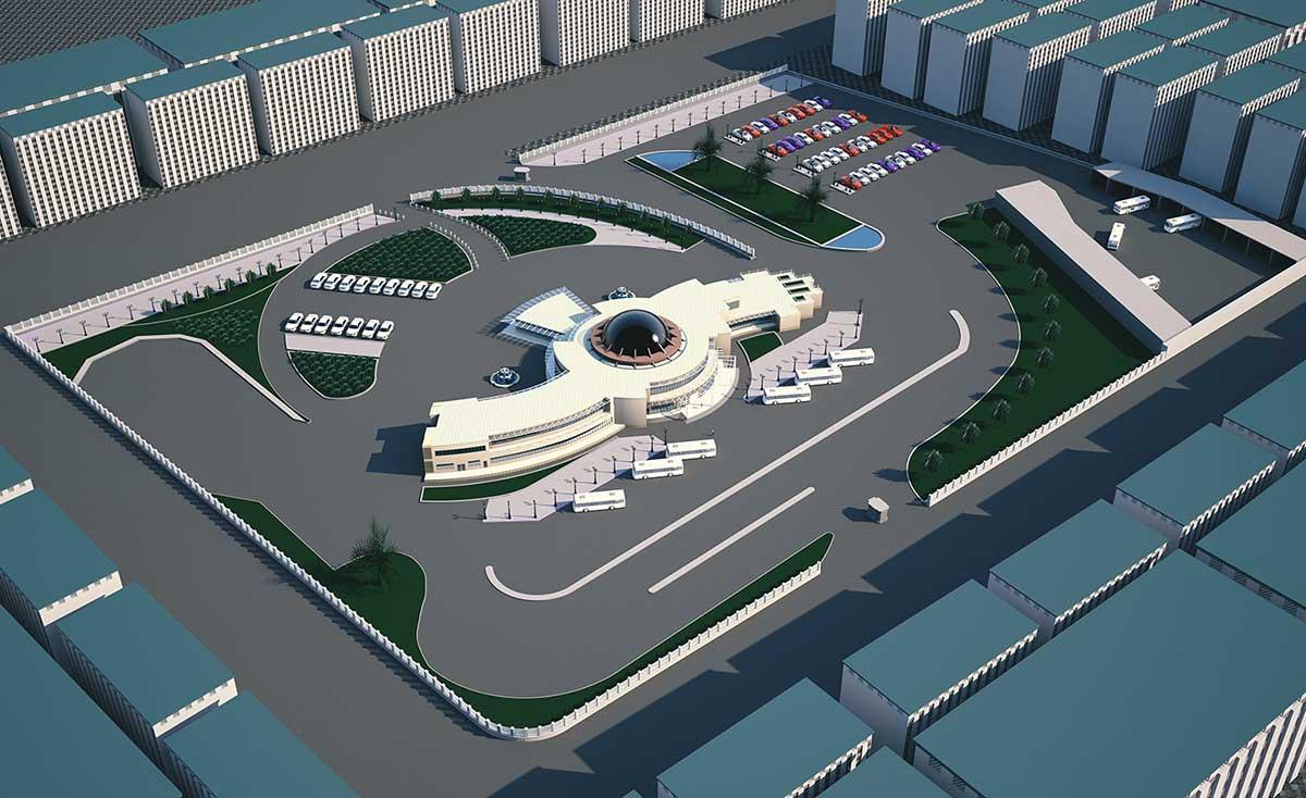 پروژه معماری ترمینال مسافربری