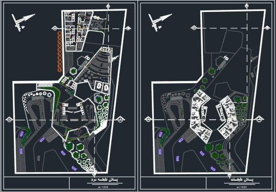 پلان پروژه هتل 5 ستاره