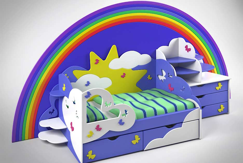 آبجکت تخت کودک و نوجوان