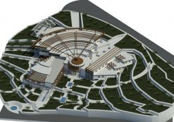 پروژه معماری دانشکده هنر و معماری با طراحی مدرن