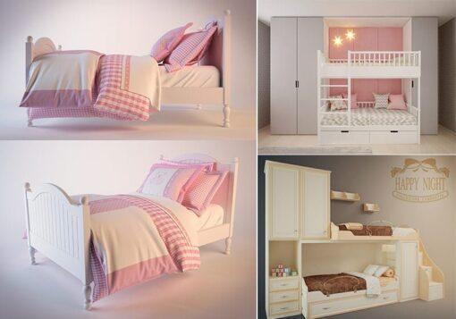 دانلود آبجکت تخت خواب کودک
