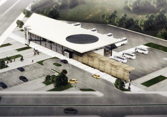 دانلود رایگان پروژه پایانه مسافربری همراه با پلان اتوکدی dwg