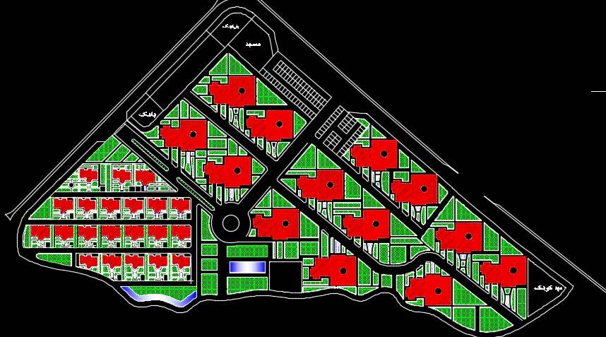 سایت پلان مجتمع مسکونی
