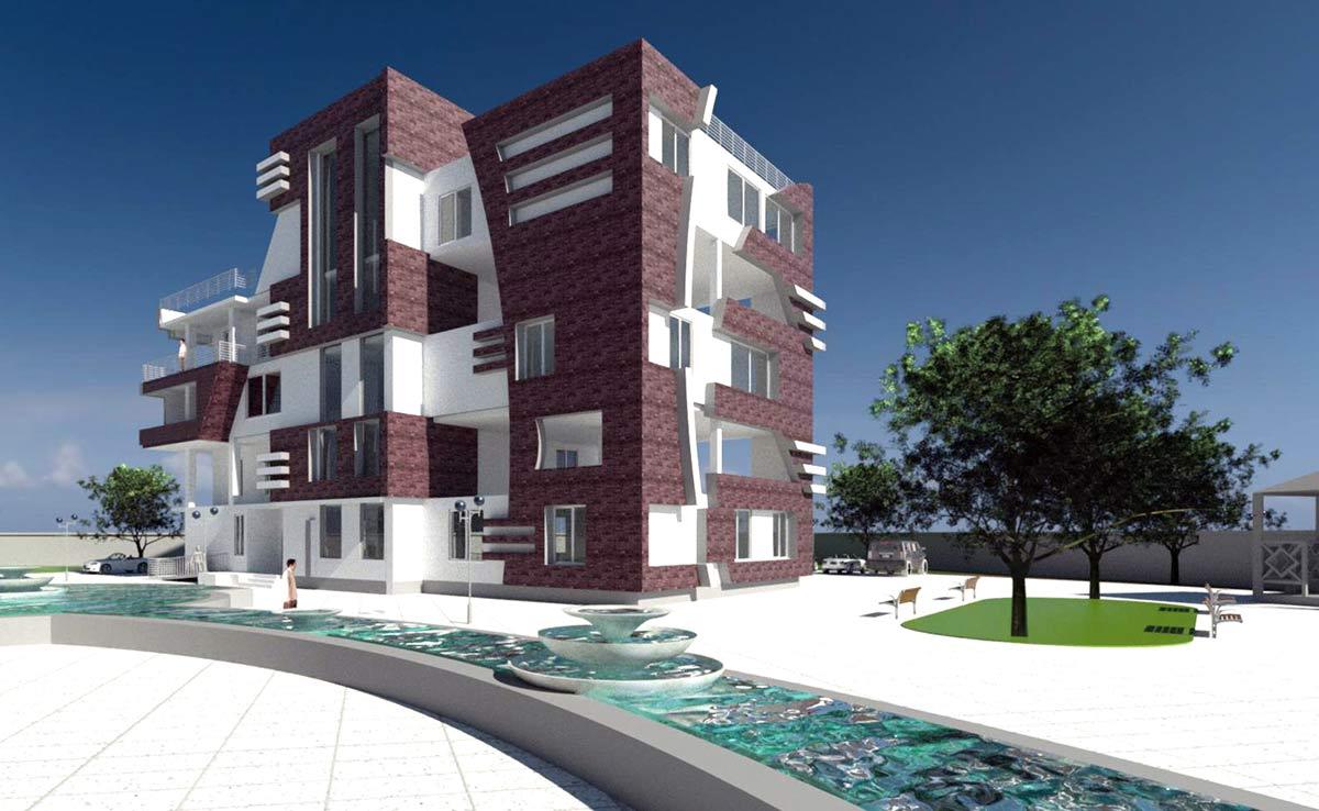 سه بعدی طرح 5 مجتمع مسکونی