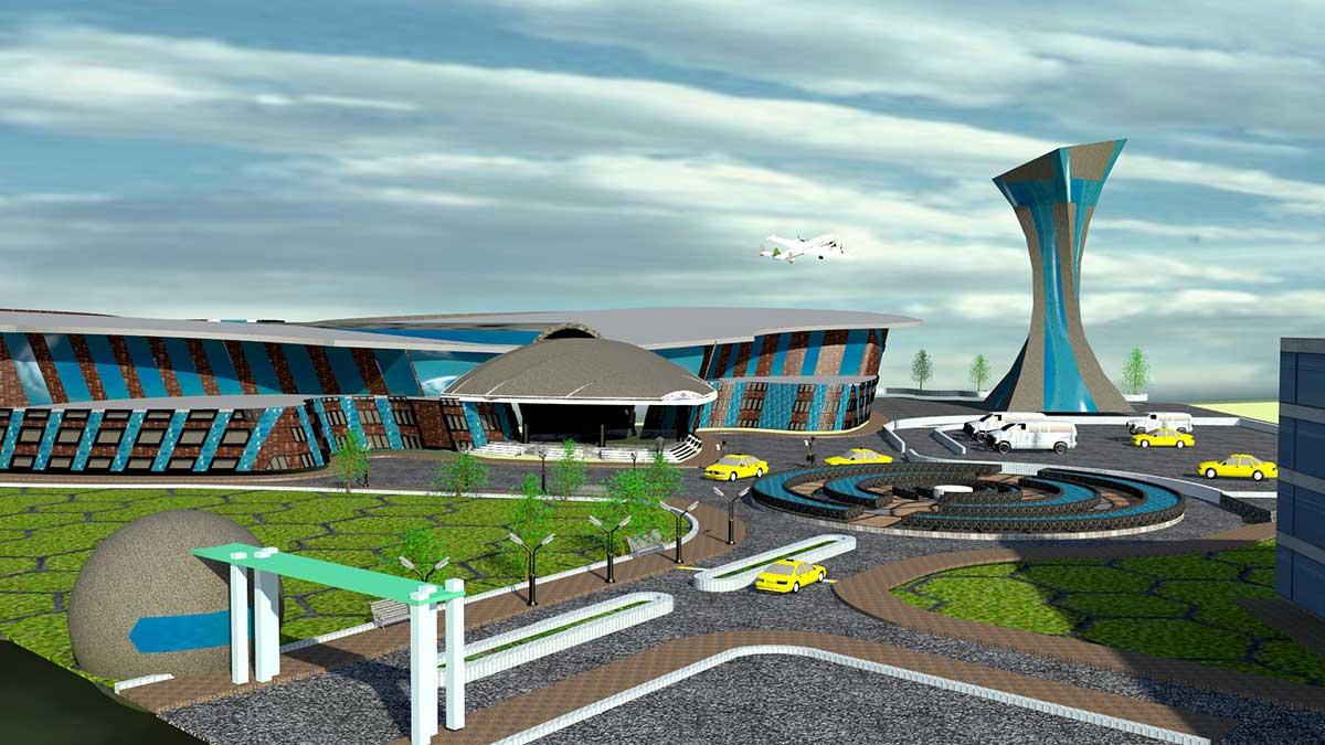 سه بعدی فرودگاه