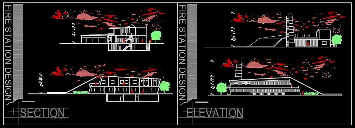 نقشه ایستگاه آتش نشانی