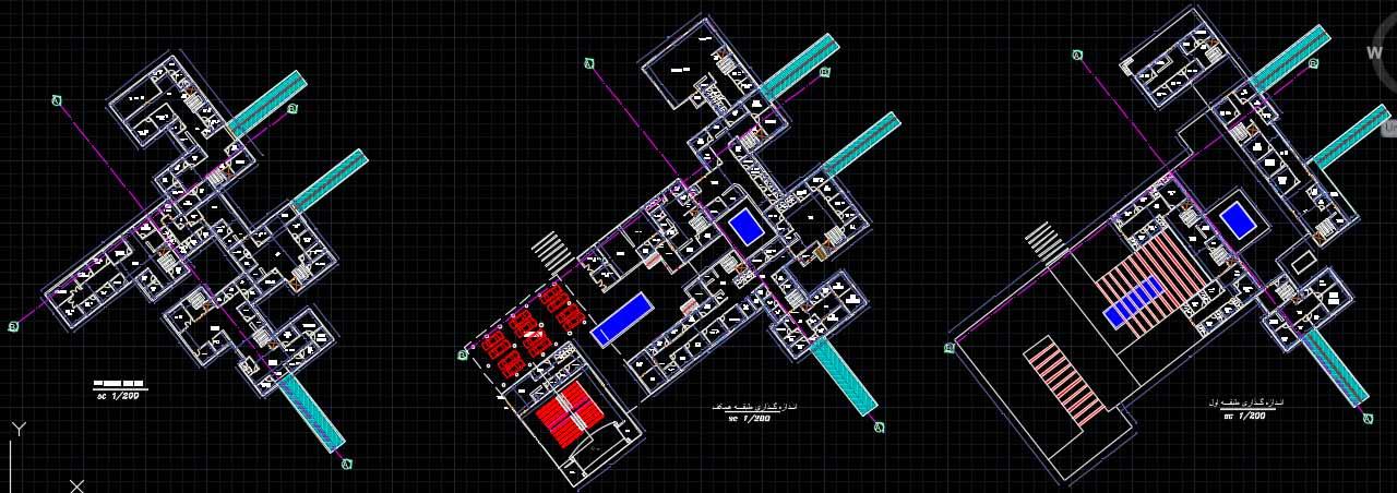 نقشه بیمارستان مغز و اعصاب