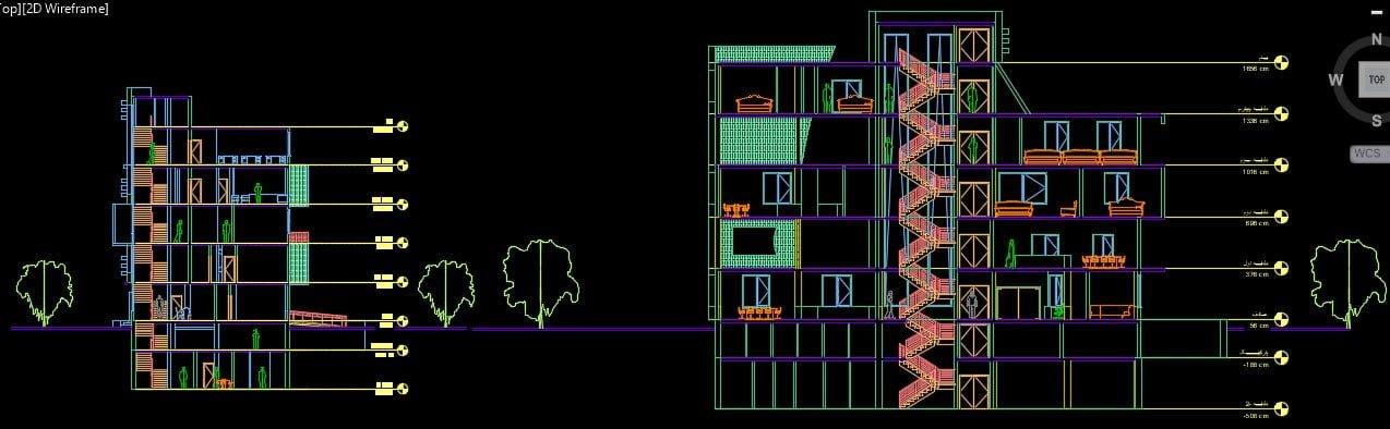 نقشه طرح 5 مسکونی