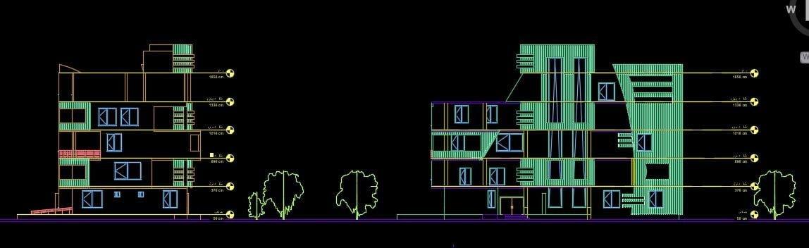 نقشه مجموعه مسکونی