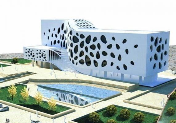 پروژه طراحی سینما با حجم معماری فوق العاده عالی و زیبا