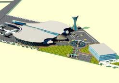 دانلود پروژه کامل فرودگاه – طراحی معماری فرودگاه برای درس طرح 4