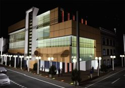 پروژه معماری بسیار کامل مجتمع تجاری فرهنگی