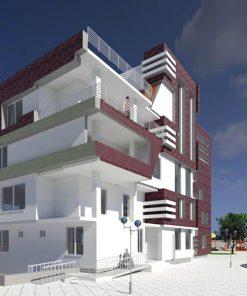 پروژه کامل طرح نهایی مجتمع مسکونی
