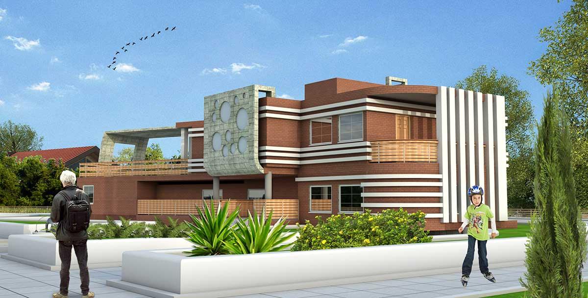 پروژه معماری خانه ایده آل