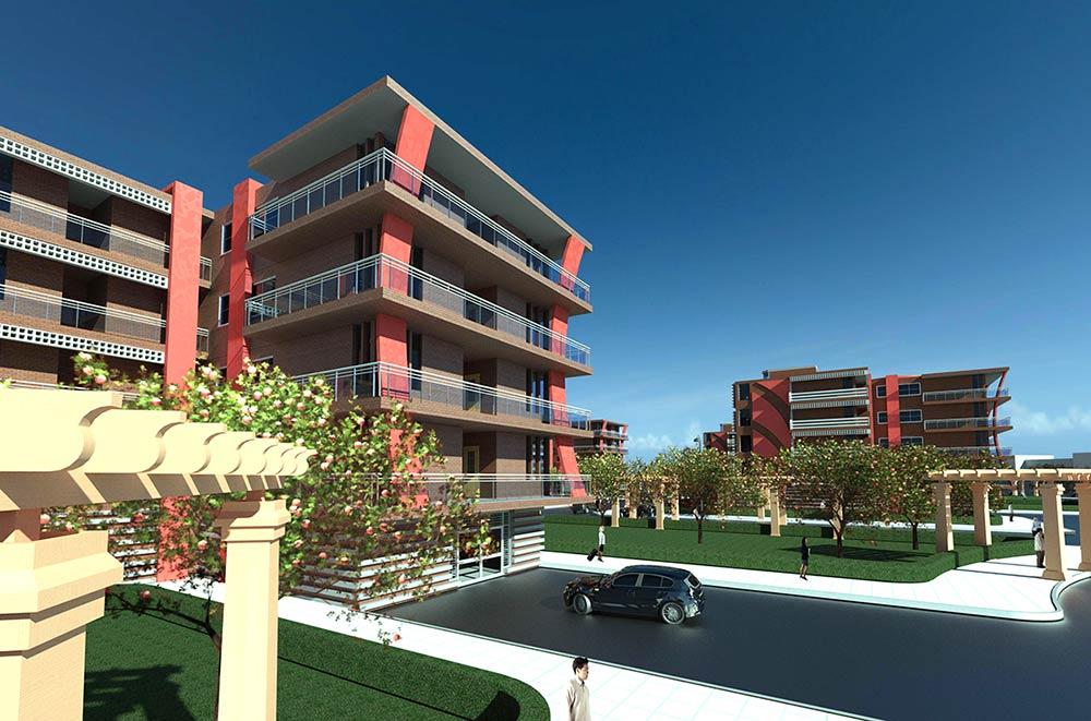 پروژه طرح 5 مجتمع مسکونی(فایل اتوکد،پلان،نما،رویت،3Dحرفهای) 1