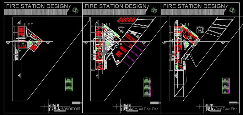 پلان ایستگاه آتش نشانی