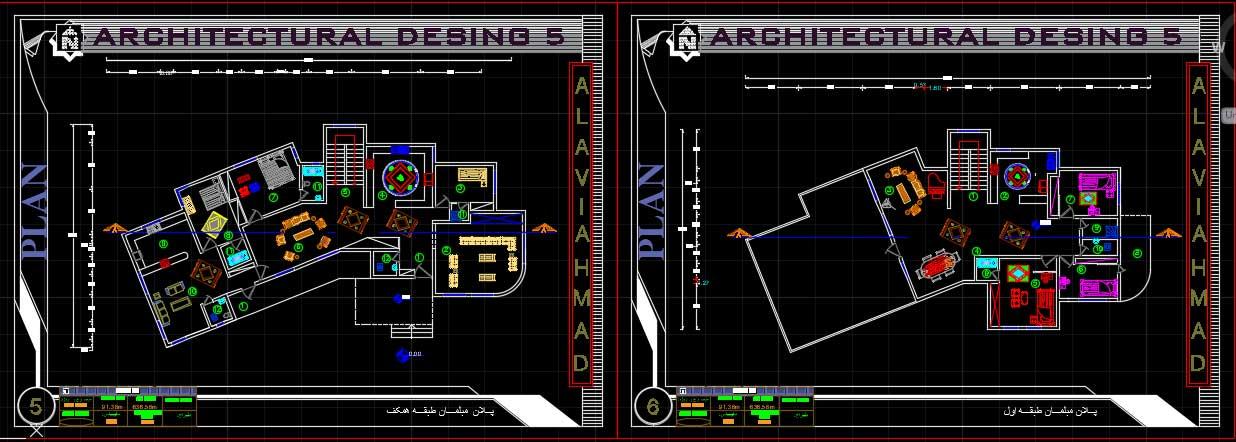 پروژه معماری خانه ایده آل به همراه تمامی شیت های معماری 1