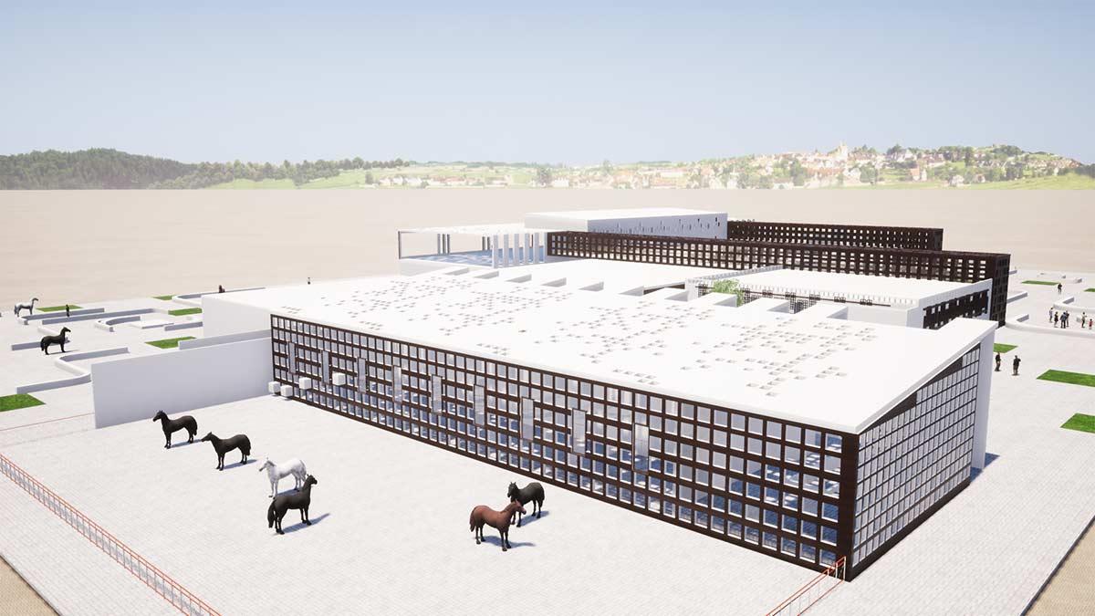 پروژه معماری باشگاه اسب دوانی