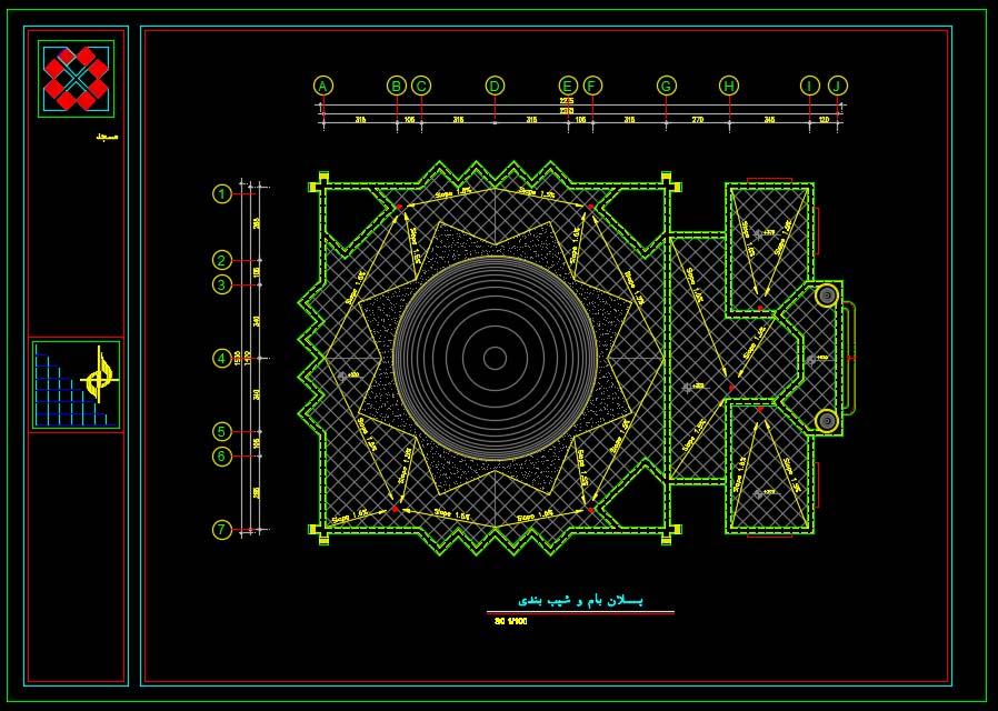 نقشه معماری مسجد