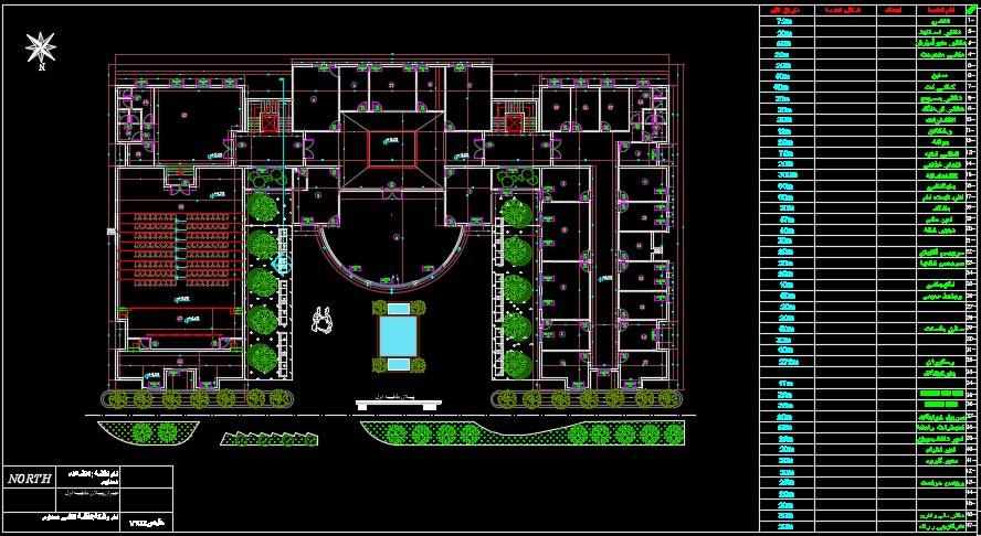 نقشه معماری دانشکده