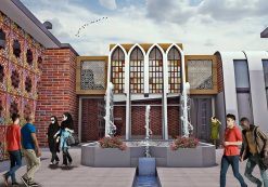 دانلود پروژه طراحی فرهنگسرا الهام گرفته از معماری ایرانی