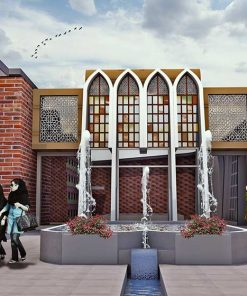 پروژه طراحی فرهنگسرا الهام گرفته از معماری ایرانی