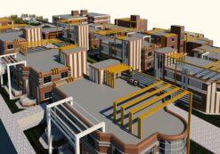 پروژه طراحی مجتمع مسکونی (پلان بلوکها،نما،برش،3D و پوستر)