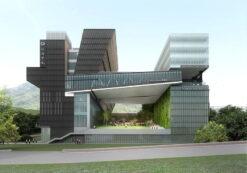 پروژه طراحی هنرستان به همراه پلان های کامل آن