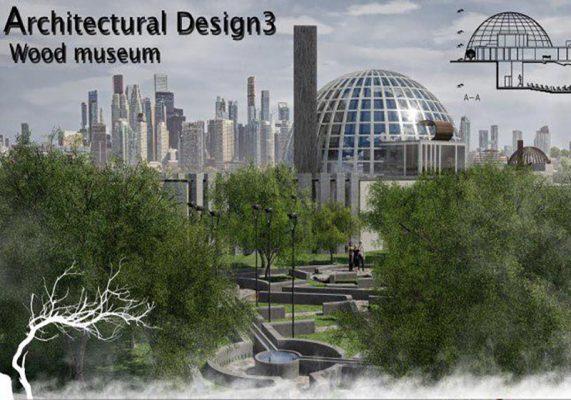 پروژه موزه چوب فوق العاده کامل و دقیق شامل تمام فایلهای معماری