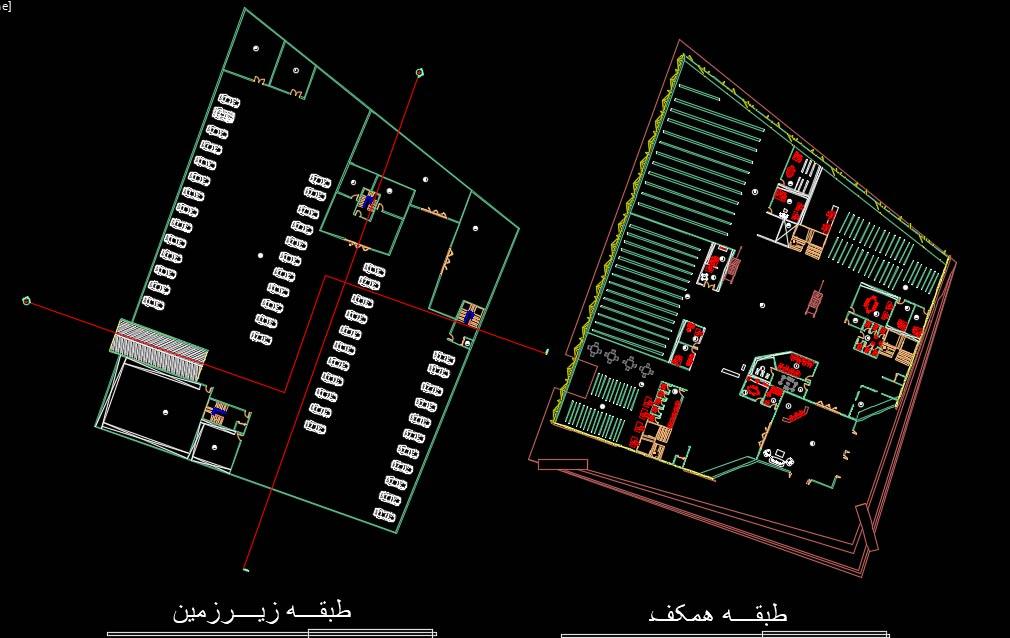 پلان معماری کتابخانه دیجیتال