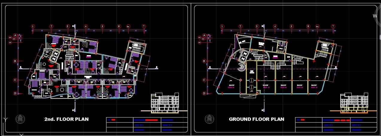 نقشه هتل فازه 2