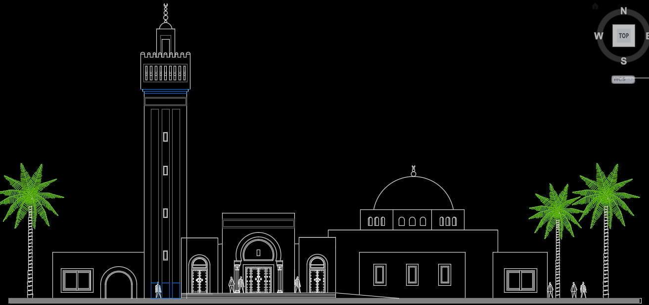 نقشه کامل مسجد