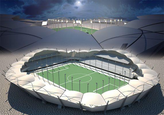 دانلود پروژه طراحی استادیوم فوتبال – کامل همراه با 3D
