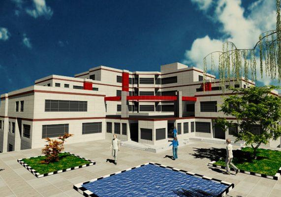 پروژه طرح 4 بیمارستان – پروژه کامل معماری بیمارستان