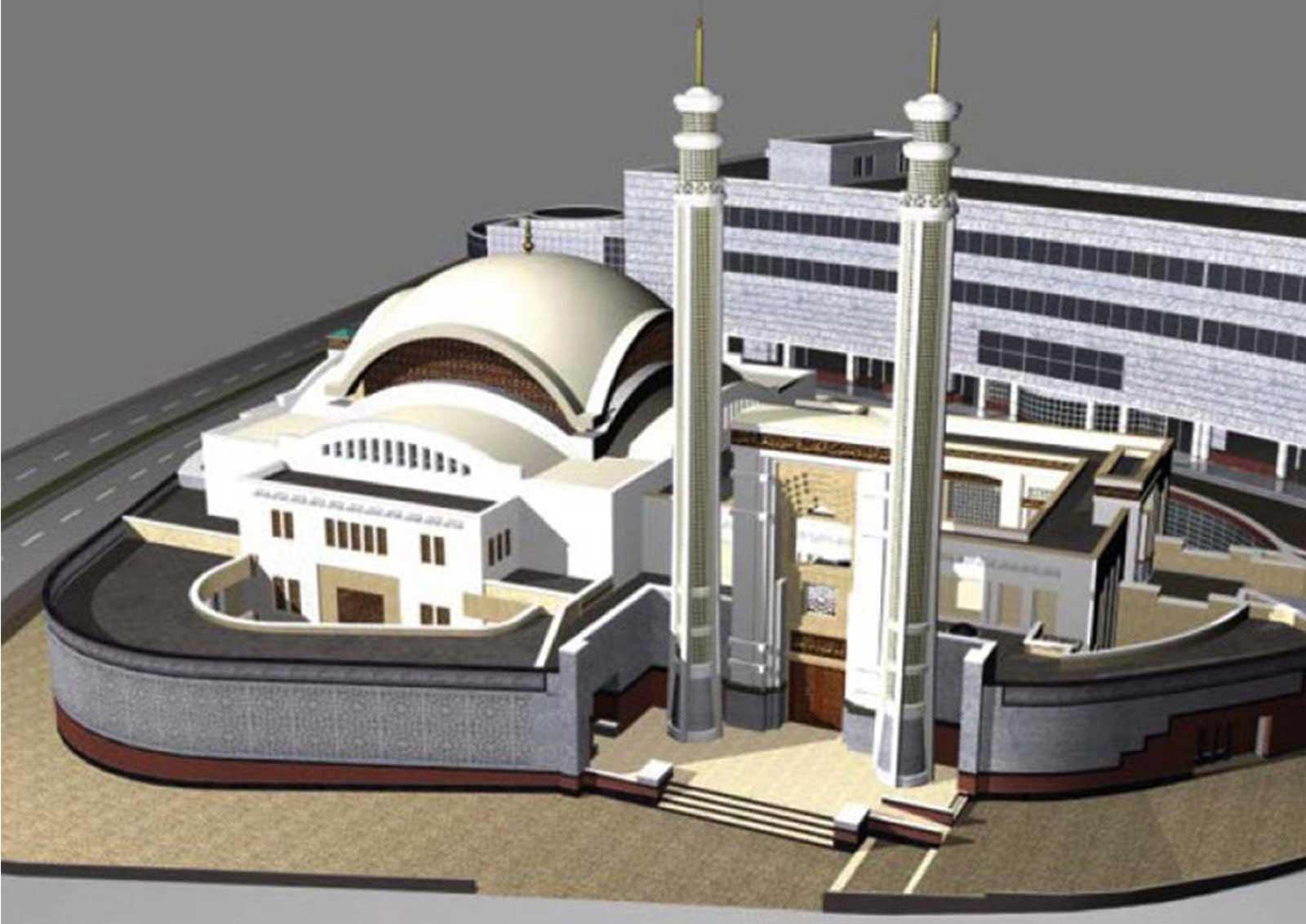 کانسپت پروژه طراحی مجتمع مذهبی فرهنگی شهرک قدس