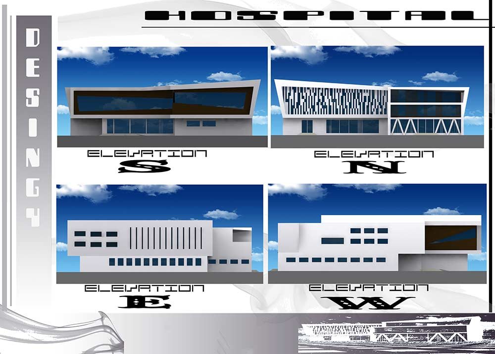 3D حرفه ای پروژه طراحی معماری بیمارستان