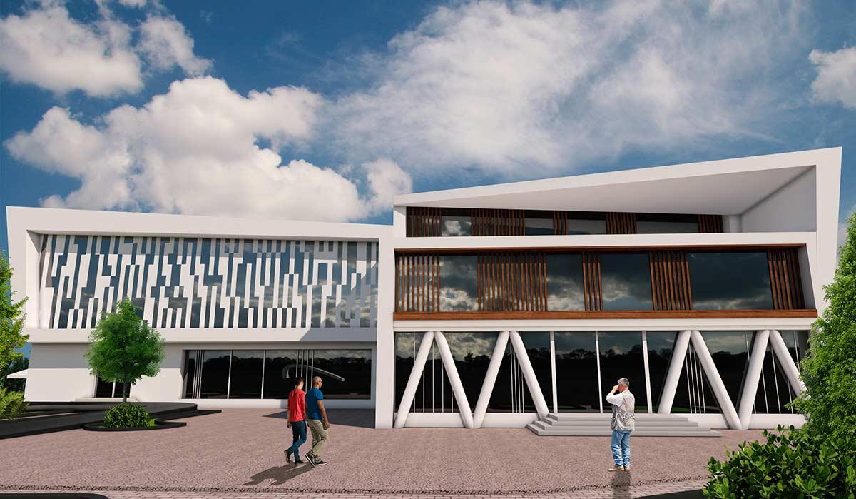 نماهای پروژه کامل بیمارستان برای درس طرح 4 معماری