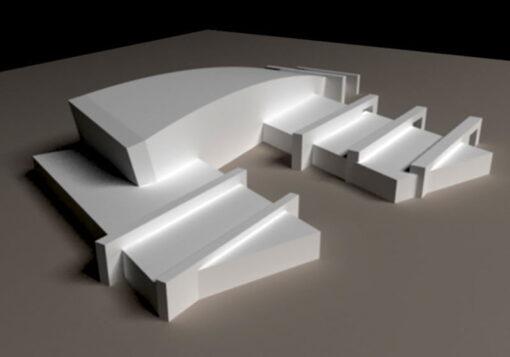 پروژه معماری طرح 3 موزه