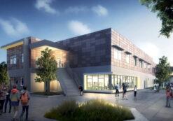 پروژه طراحی مدرسه راهنمایی برای درس طراحی فنی ساختمان