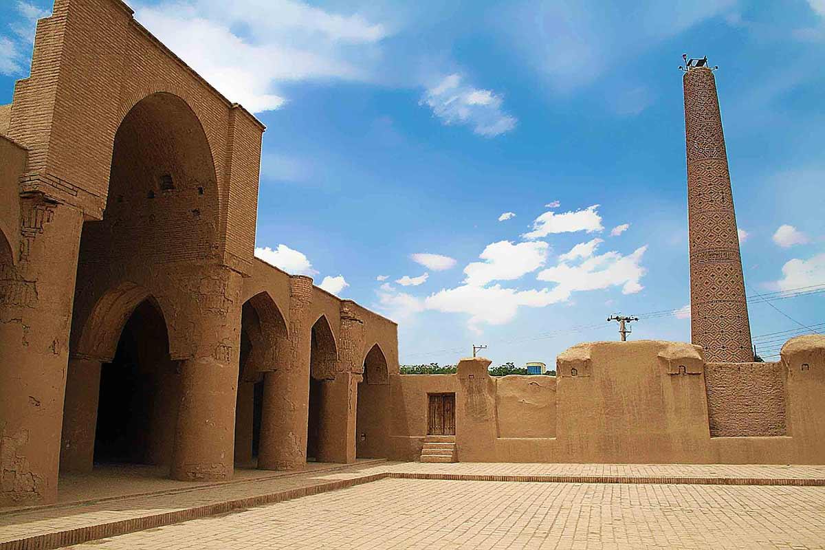 معماري مسجد تاريخانه دامغان