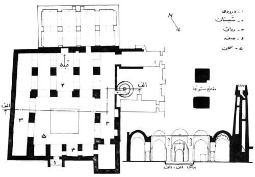 پلان مسجد تاریخانه دامغان